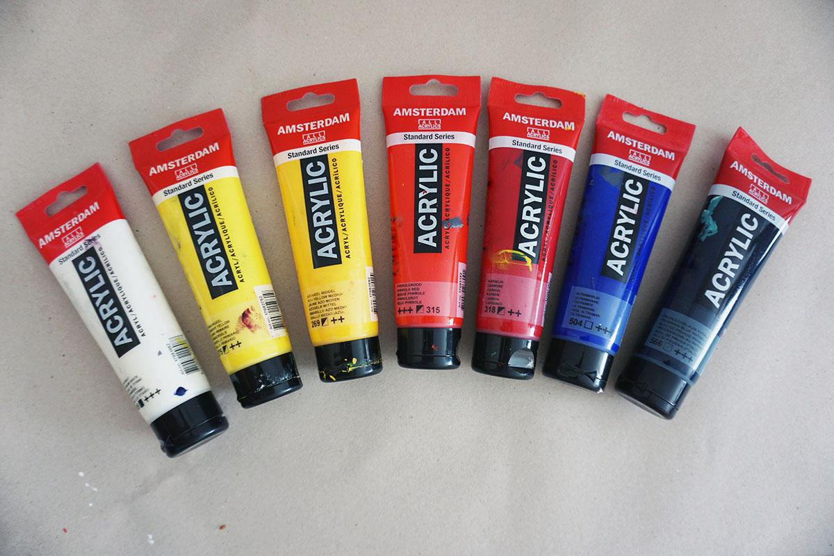 Jak vybrat akrylové barvy - Naučte se malovat