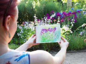 Naučte se malovat - Kreslení v botanické zahradě