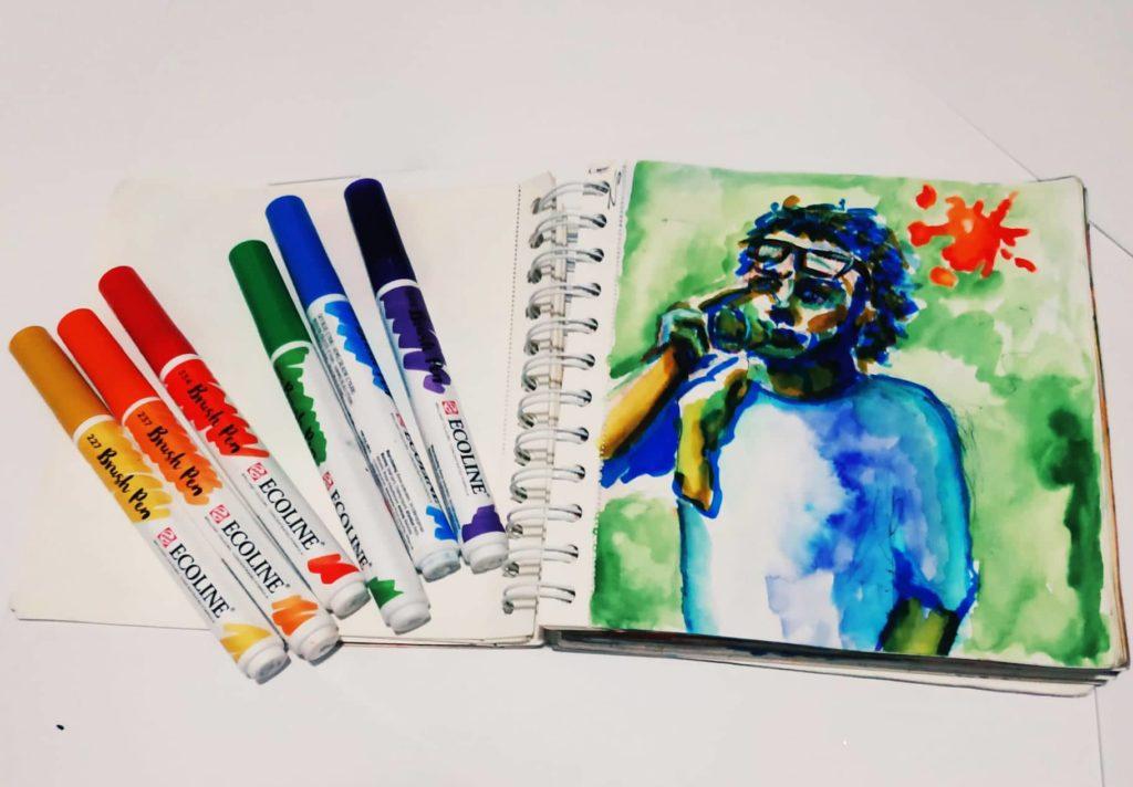 Naučte se malovat - Akvarelové fixy 3