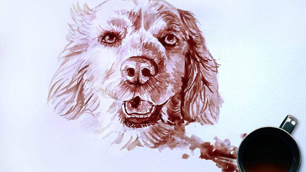 Naučte se malovat - Malování kávou