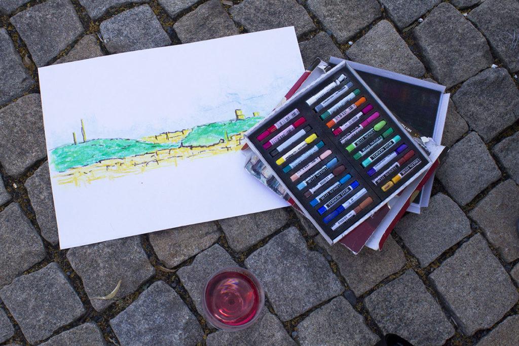 Kreslení v Grébovce se skelnkou vína 1