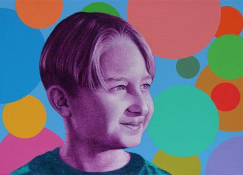 Aldin Popaja, Portrét Roberta, akryl na plátně, 50x70 cm