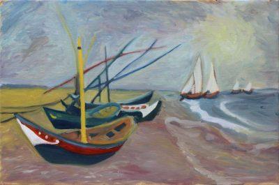 Monika Sekavová, Van Gogh - kopie, olej na plátně, 40x60cm