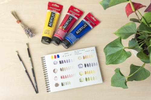 Nauctesemalovat Jak michat barvy