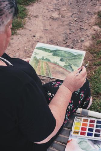 Naučte se malovat - Malování v Krkonoších 2
