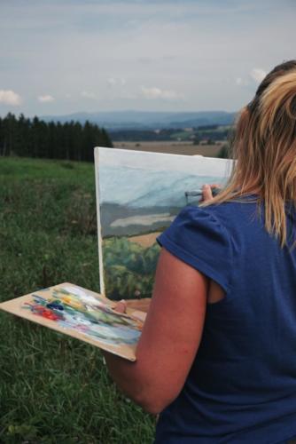 Nauctesemalovat  Malovani v Krkonosich plener 1