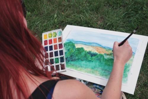 Nauctesemalovat  Malovani v Krkonosich plener - Jak namalovat krajinu 5