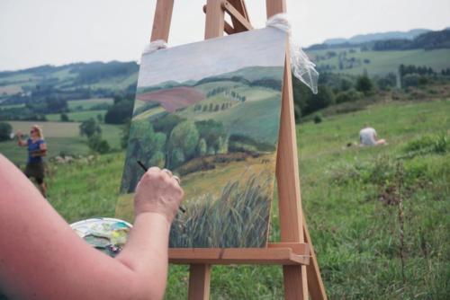 Nauctesemalovat  Malovani v Krkonosich plener - Jak namalovat krajinu 4