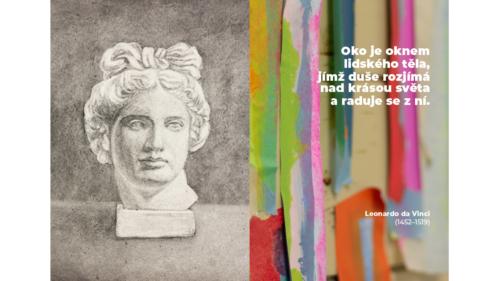 Ukázka z knihy Vidím to, ale neumím to namalovat – Kresba sádrové hlavy